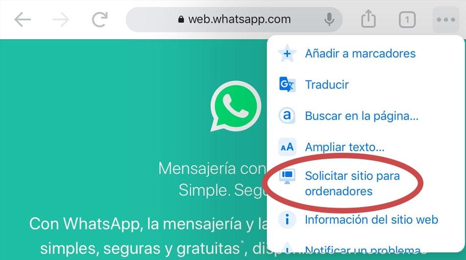 poner WhatsApp web en tablet
