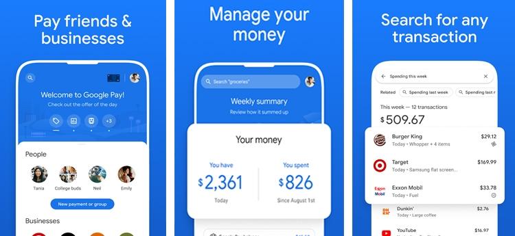 google pay aplicación Android