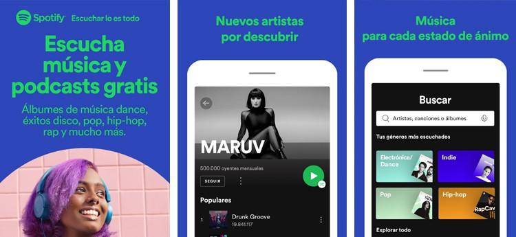 spotify, mejores aplicaciones para escuchar música en Android