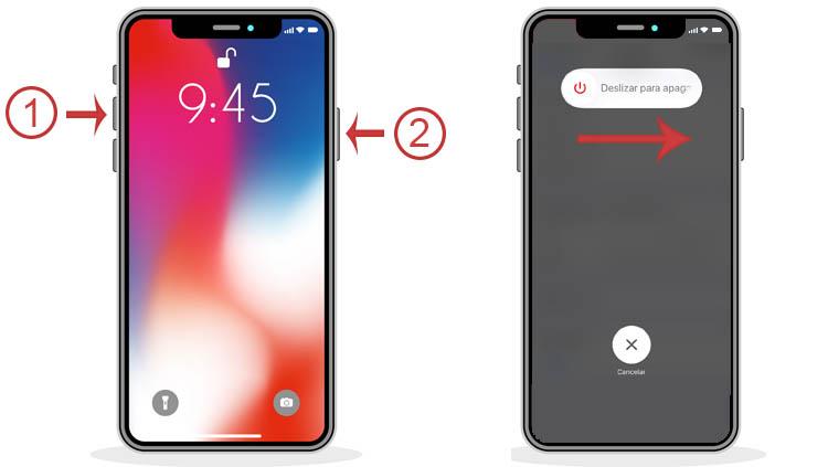 reiniciar iPhone 8 o superior