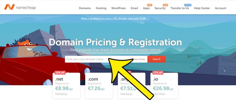 comprar dominio barato namecheap