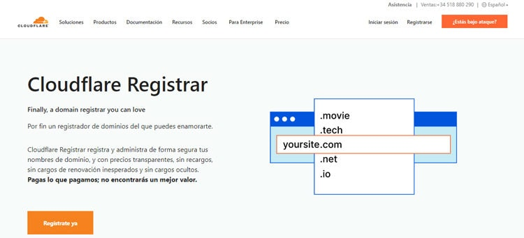 comprar dominios baratos en cloudflare