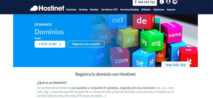 comprar dominios en hostinet