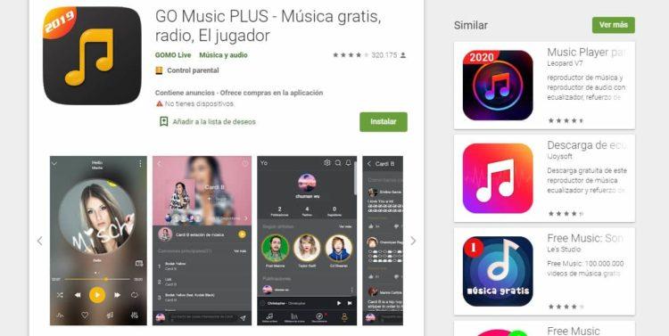app bajar musica go music