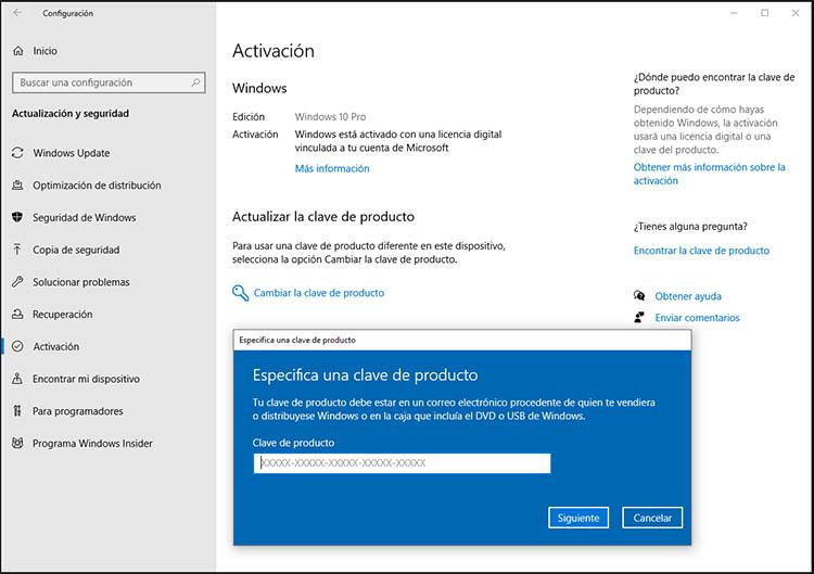 licencia de windows 10