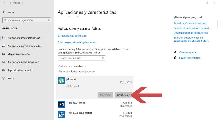 acelerar ordenador quitando aplicaciones