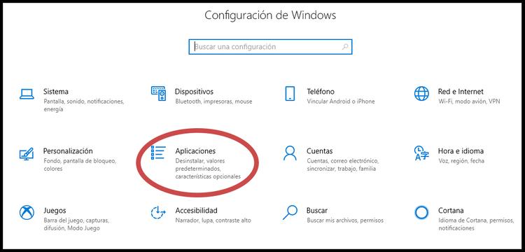 aplicaciones de windows
