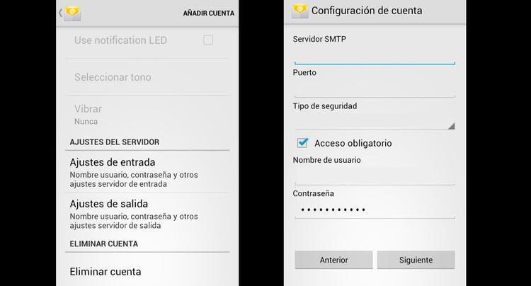 configurar correo movistar Android 2