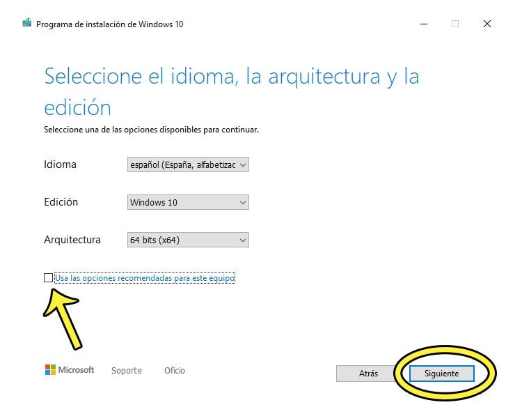 crear usb de instalación de windows 10