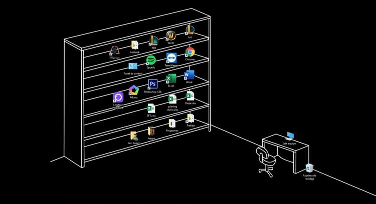 escritorio de Windows 10 limpio