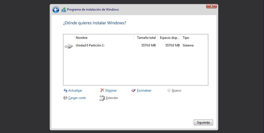 instalación de windows 10 desde usb paso6
