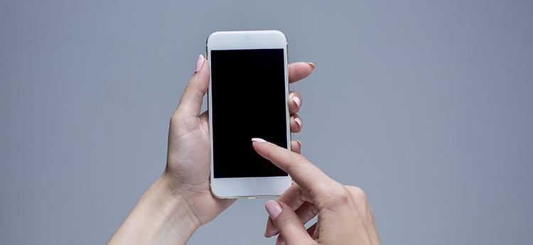 pantalla negra del iPhone