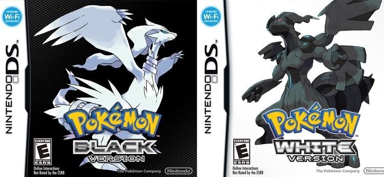 pokemon negro y blanco
