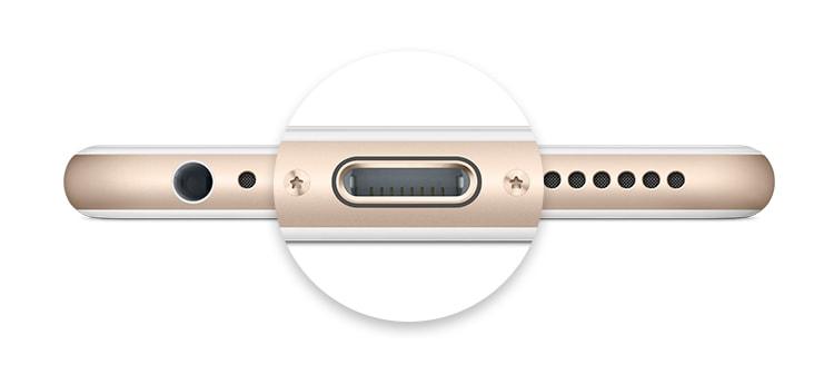 suciedad en el conector del iPhone