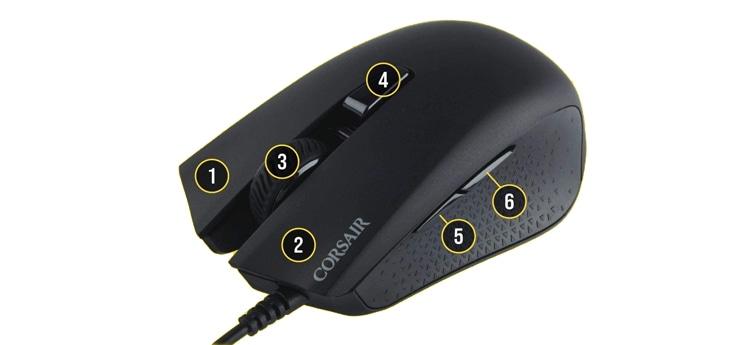 botones ratón gaming
