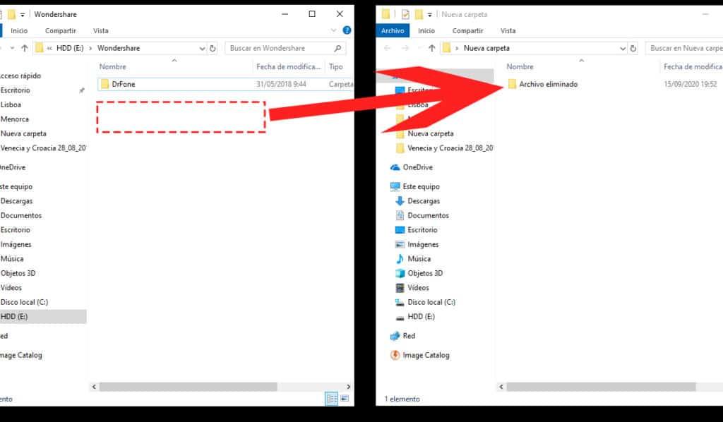 restaurar archivos desde usb paso 3