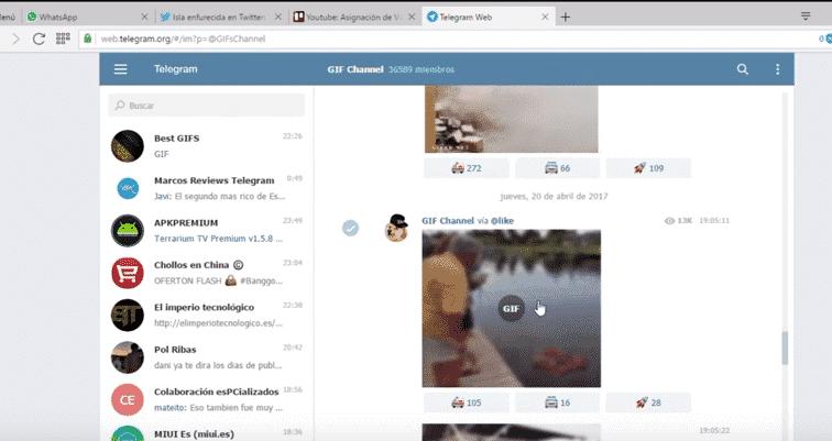 Cómo buscar canales de Telegram