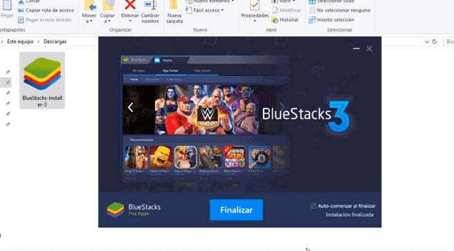 bluestacks fácil