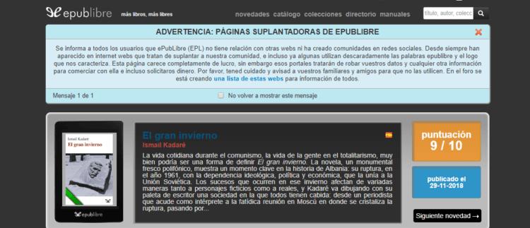 conseguir libros gratis en español en epub libre