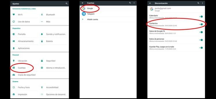 pasar contactos de android a iphone
