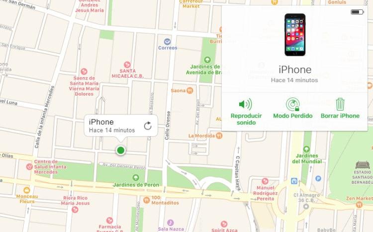 buscar iPhone apagado