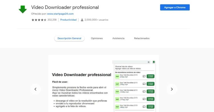 addon Video Downloader Pro