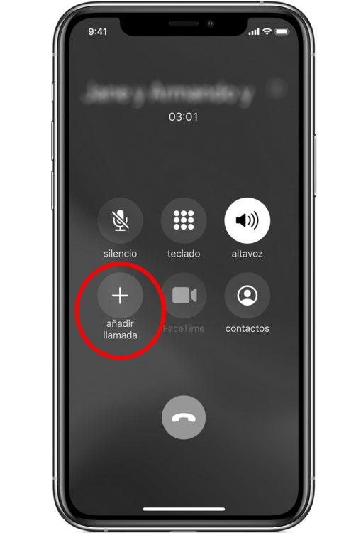 añadir llamada