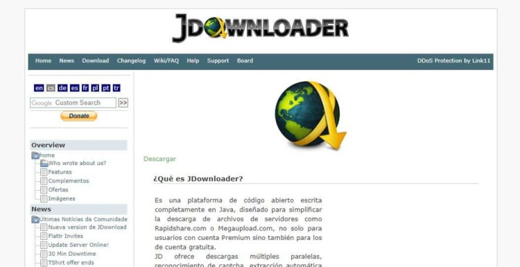 jDownloader para descargar canciones de youtube