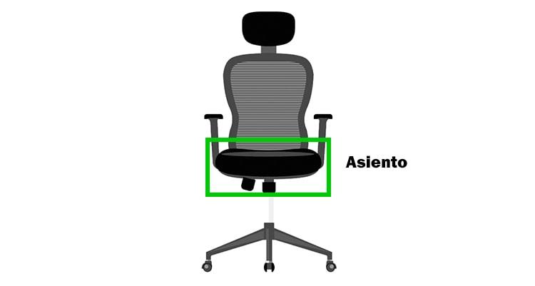 asiento de la silla