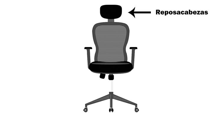 reposacabezas de silla de oficina