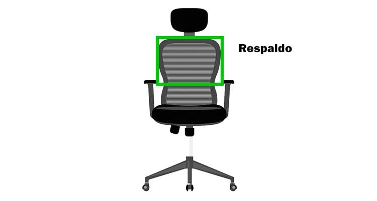 respaldo ajustable de una silla