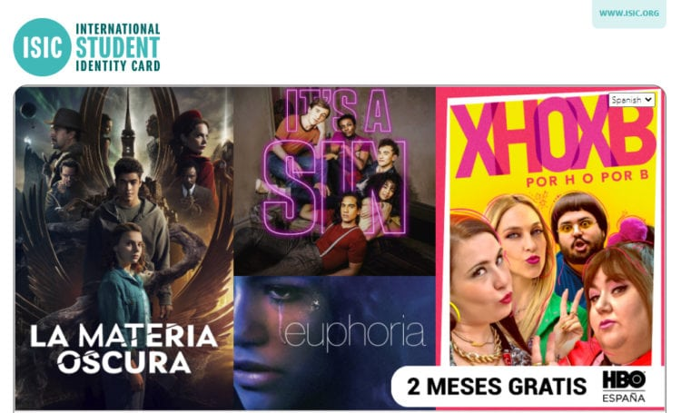 descuento isic hbo