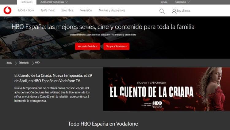 hbo gratis con Vodafone tv