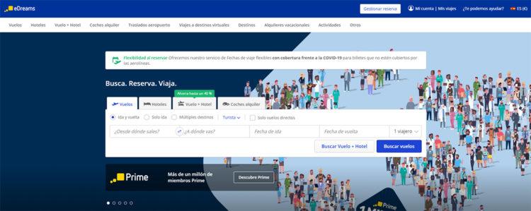alternativas a Google Flights, edreams