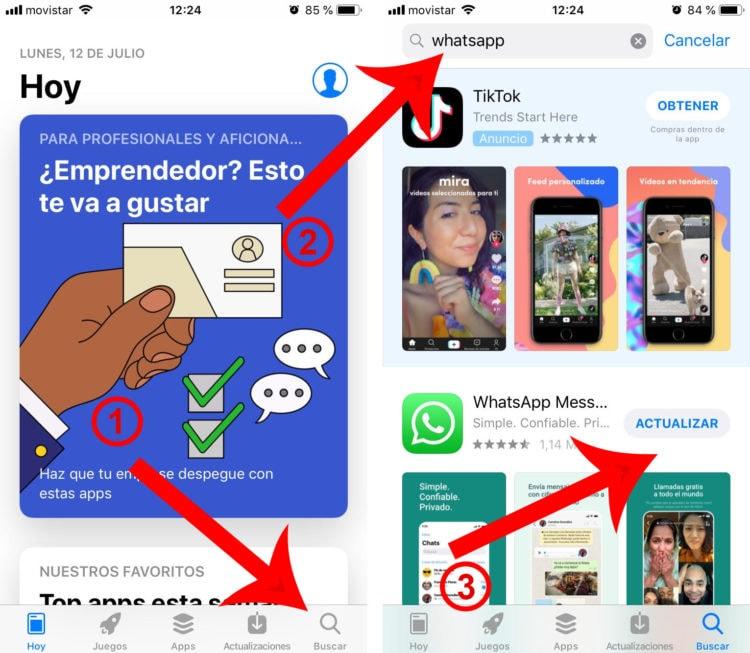 descargar WhatsApp en iPhone